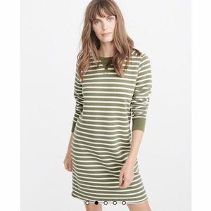 Abercrombie Striped Sweatshirt Dress Size XL- NWT